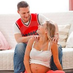 Husband Massages Pregnant Wife