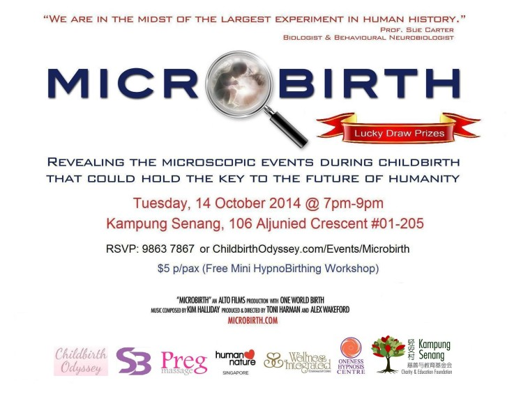 Microbirth Singapore 14 October 2014