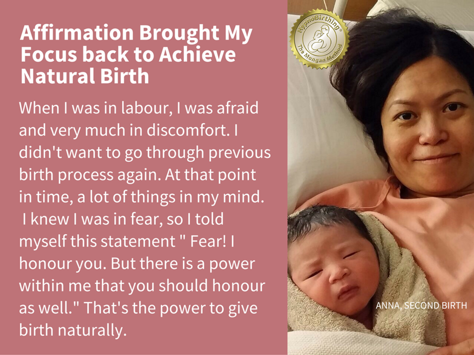 Anna used affirmation to bring her focus back at the point where she lost focus